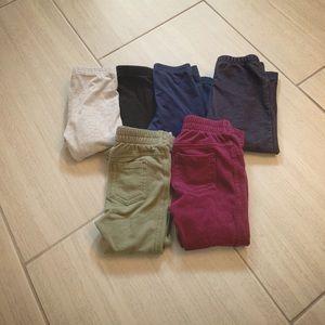Bundle of 6 size 12-18 month leggings/pants